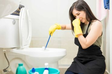 baño limpieza mujer