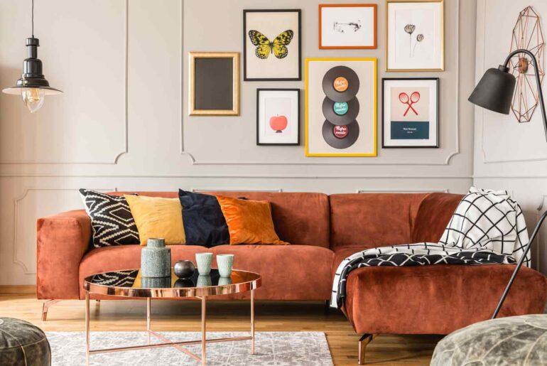 sala cuadro sofa