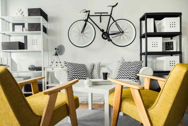 colgar bicicleta departamento